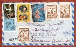 Luftpost, Einschreiben Reco, Antarktis U.a., Post-R-Stempel Buenos Aires, Nach Diez 1973 (82662) - Argentina