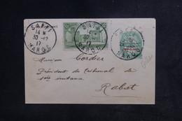 MAROC - Entier Postal Type Blanc Surchargé + Complément De Saffi Pour Rabat En 1917 - L 48398 - Marokko (1891-1956)