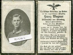 Ardennes. VOUZIERS. 1918. Avis Décès Soldat Allemand - 1914-18
