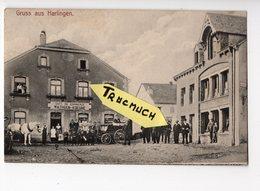 Gruss Aus HARLINGEN - Café Du Commerce WATHGEN - KOENE  *belle Animation* *rare* - Wiltz