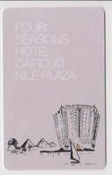 HOTEL KEYS - 2120 - EGYPT - FOUR SEASONS HOTEL CAIRO AT NILE PLAZA - PYRAMID - Chiavi Elettroniche Di Alberghi