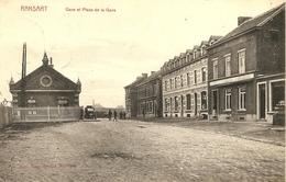 RANSART (Charleroi) - Gare Et Place De La Gare / Station - Edit. M. Marcovici - 1913 - Rare - Courcelles
