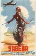SABENA . BEGIQUE CONGO AFR DU SUD - Aufklebschilder Und Gepäckbeschriftung