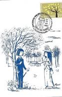 21-23.5.1988  -  VALENCE - Les Amoureux Et Les Fleurs De R. Peynet  2 Scans - Maximum Cards