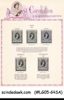 OMNIBUS COLLECTION OF 1953 QEII CORONATION STAMPS BR. COMM. 62V USED - Case Reali