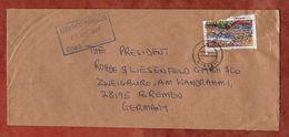 Brief, Faelschung Zum Schaden Der Post Steinbruecke, Abuja Nach Bremen 1997 (82670) - Nigeria (1961-...)
