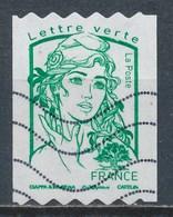France - Marianne De Ciappa Et Kawena - Roulette Lettre Verte YT A1257 Obl. Ondulations TSC1000 - Frankreich