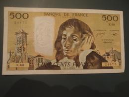 Billet De 500 Francs Pascal E 1 4 1976 - 1962-1997 ''Francs''