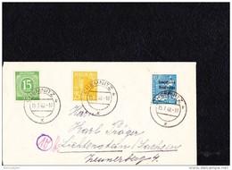 SBZ: Fern-Brief 10-fach-Frankatur In MiF SBZ-Masch.-Aufdruck Portogenau 15 Pf Ziffer, 25 Arbeiter, 20 SBZ  Knr:10-fach - Zone Soviétique
