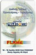 Greece - Teledome - Sponsor Of Flame Cat. #1 - Remote Mem. 0.5€, Exp.14.06.2003, 1.000ex, Mint - Griechenland