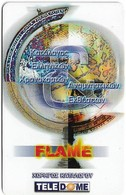 Greece - Teledome - Sponsor Of Flame Cat. #2 - Remote Mem. 0.5€, Exp.14.06.2003, 500ex, Mint - Grecia