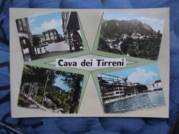 Q635 CARTOLINA  SALUTI DA  DI CAVA DE TIRRENI VEDUTINE SALERNO  VIAGGIATA - Cava De' Tirreni