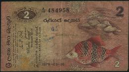 CEYLON & SRI LANKA - 2 Rupees 26.03.1979 VG P.83 - Sri Lanka