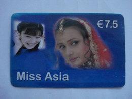 """Carte Téléphonique Prépayée """" Miss Asia """"  (utilisé). - Frankrijk"""