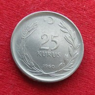 Turkey 25 Kurus 1960 KM# 892.2  Turquia Turquie - Turquia