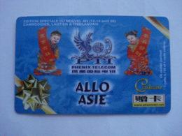 """Carte Téléphonique Prépayée """" Allo Asie """"  (utilisé). - Frankrijk"""