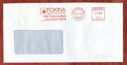 Brief, Pitney Bowes E21-9321, Fokina Foto-Fachlabor, 100 Pfg, Mannheim 1990 (82686) - [7] République Fédérale