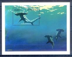 C133- Tanzania 1999 Marine Mammals Fish Shark. - Tanzania (1964-...)