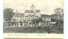36* FONTGOMBAULT  Abbaye - Les Religieux Au Travail - Eglises Et Couvents