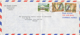 Jamaica Air Mail Cover Sent To England 28-4-1980 (the Cover Is Bended) - Jamaica (1962-...)
