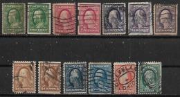 1908 Usa Personajes 13v. - Used Stamps
