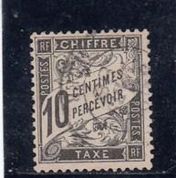 France - 1881-92 - Taxes - N°YT 15 - 10c Noir - Oblitéré - 1859-1955 Used