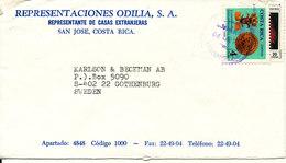 Costa Rica Cover Sent To Sweden 4-4-1990 - Costa Rica