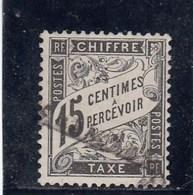 France - 1881-92 - Taxes - N°YT 16 - 15c Noir - Oblitéré - 1859-1955 Used