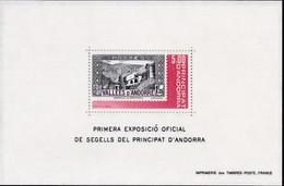 1982, Andorra, Fr., 325 Block 1, Briefmarkenausstellung.  MNH **, - Blocks & Kleinbögen