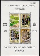 1978, Andorra, Sp.,111/14 Block 1, 50 Jahre Spanisches Postamt.  MNH **, - Neufs