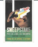 CP -  PRIX DE L ARC DE TRIOMPHE 1935. - Publicidad