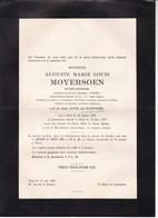 ALOST AALST Auguste MOYERSOEN Notaire Honoraire Veuf De SLOOVERE 1879-1947 Cercle Catholique 2 Volets Complets - Todesanzeige