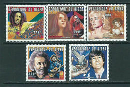 C153- Niger 1996 Famous People Musicians Birds Pigeon. - Niger (1960-...)