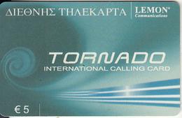 GREECE - Tornado, Lemon Prepaid Card 5 Euro, Used - Griechenland