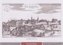 Slovenia Slowenien Slovenie: 2019 Postal Stationery Card; Old City Of Kranj - Cranburg; Castle Architecture; Fenster - Architettura