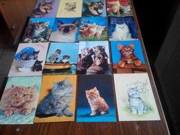 LOT N° 33 . LOT DE 30  CARTES SUR LES CHIENS ET CHATS . TOUTES SCANNEES - 5 - 99 Postkaarten