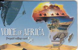 GREECE -Satellite Dish, Voice Of Africa Prepaid Card 5+1 Euro(807 8015-807 0708, Thin Plastic), Used - Grönland
