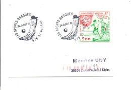 SAINT PIERRE ET MIQUELON FDC 1991 LES SPORTS BASQUES - FDC