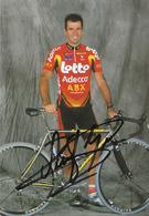 CARTE CYCLISME PETER VAN PETEGEM SIGNEE TEAM LOTTO 2002 - Ciclismo