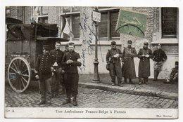 Militaria-histoire--Guerre 14-18 --Une Ambulance Franco-Belge à Furnes (Belgique)--Très Animée -- Voir état.....à Saisir - Guerre 1914-18