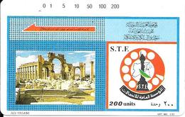 CARTE-MAGNETIQUE-SYRIE1996-S.T.E 200U-RUINES De PALMYRE--Utilisé 1 Unité -TBE-RARE - Siria