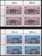 """BRD, 1990 Nr. 1461-1462 **,  2 Viererblöcke Mit Eckrand Oben Links, """"Europa"""" - Nuovi"""