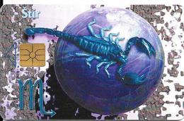 CARTE PUCE-1998-TCHECOSLOVAQUIE-GEM1-ZODIAQUE-SCORPION-STIR-UTILISE-TBE - Zodiaco