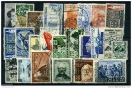ITALIA REPUBBLICA - 9 ANNATE COMPLETE FRANCOBOLLI USATI DAL 1952 AL 1960 PERFETTI AFFARONE PREZZO PIU' BASSO SUL MERCATO - 1946-.. Republiek