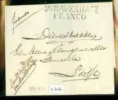 1827 POSTHISTORIE * VOORLOPER * BRIEFOMSLAG Uit 1827 Van 's-GRAVENHAGE Naar De BURGEMEESTER Te LISSE (11.646) - Niederlande
