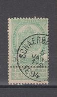 COB 56 Oblitération Centrale SCHAERBEEK (Brux.) - 1893-1907 Coat Of Arms