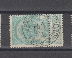 COB 56 Oblitération Centrale BRUXELLES Nord 1 - 1893-1907 Coat Of Arms