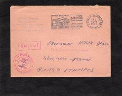 LSC 1975 - EVRY- Cachet 1ere REGION MILITAIRE - 12èm DIVISION MILITAIRE  - Griffe SM NDF - Cachet Corbeil Essonnes - Cachets Militaires A Partir De 1900 (hors Guerres)