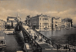 "6160 "" VENEZIA-PONTE DELL'ACCADEMIA ""ANIMATA-GONDOLA-CART. POST. ORIG. SPED. - Venezia (Venice)"