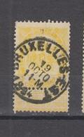 COB 54 Oblitération Centrale BRUXELLES-EST - 1893-1907 Coat Of Arms